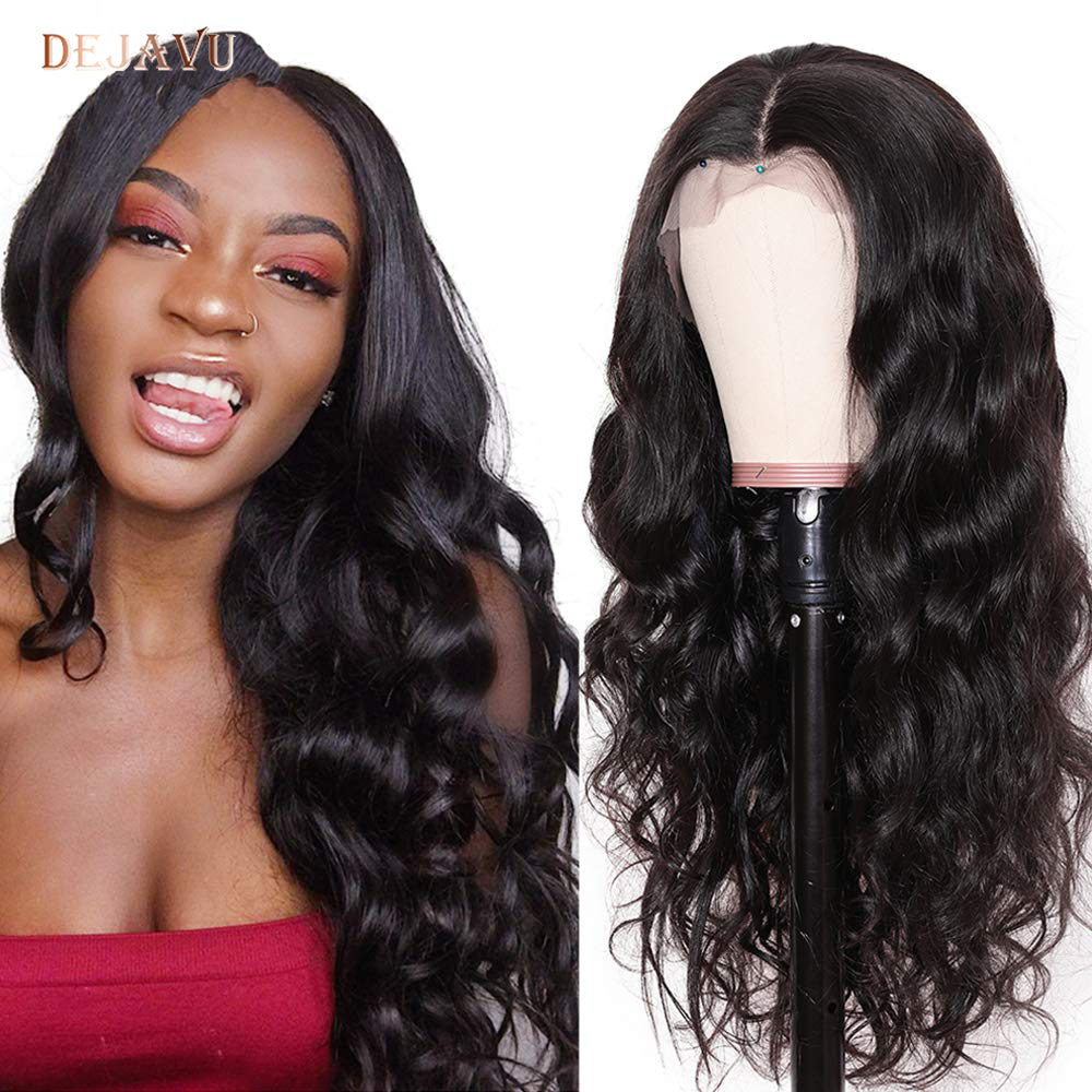 Dejavu Lace Front Human Hair Wigs Body Wave Human Hair Wigs 13*4 Lace Front Wig Remy Hair Density 130% Lace Wigs For Women