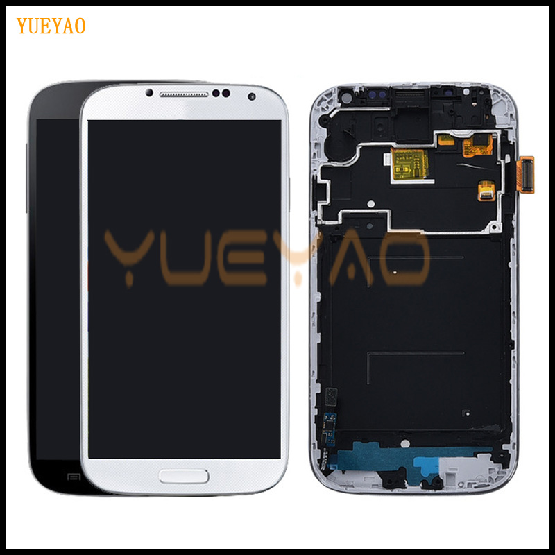 100% testado display lcd para samsung s4 i9505 i9500 i9505 lcd para samsung s4 i9506 i337 lcd tela de toque digitador assembléia