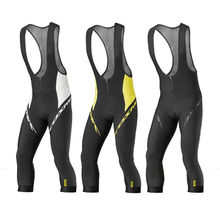 Mavic Summer 3/4 Black Cycling MTB Quick Dry Breathable 9D GEL Pad Pants ciclismo Sport Bike Trousers Bicycle Lycra Bib Shorts