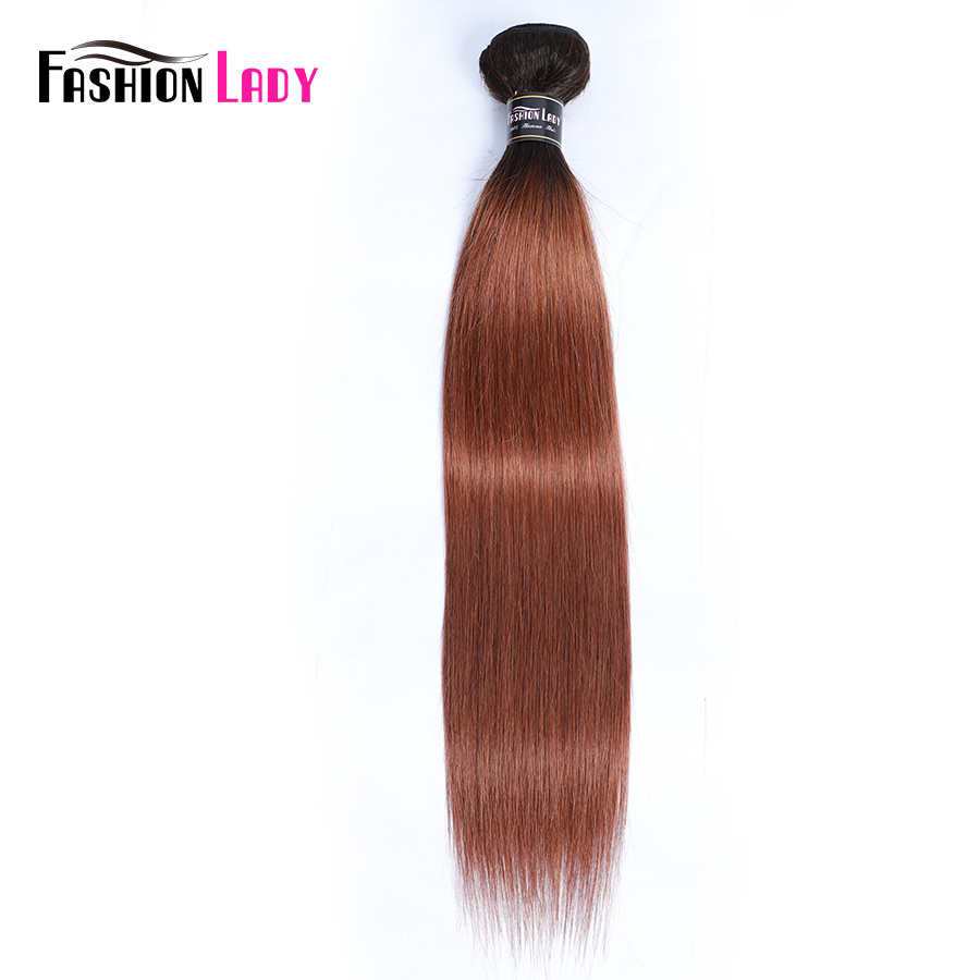 Fashion Lady Pre-Colored 100% Human Hair Straight T1B/30 Ombre Peruvian Human Hair Bundles Non-Remy