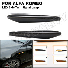 2 sztuk dynamiczne boczne światła obrysowe LED sygnał kierunkowskazu lampka migacza dla Alfa Romeo 159 / 159 Sportwagon / Boera / Spider typ 939