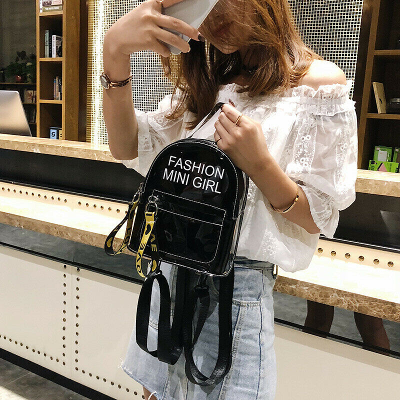 Fashion-Clear-Transparent-Backpack-Stadium-Security-School-Book-Bag-Travel-Travel-Hot-Ladies-Girls-Candy-Color
