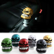 Universal Manual Gear Shift Knob Shifter Lever Skull Car Chrome Manual Transmission Gear