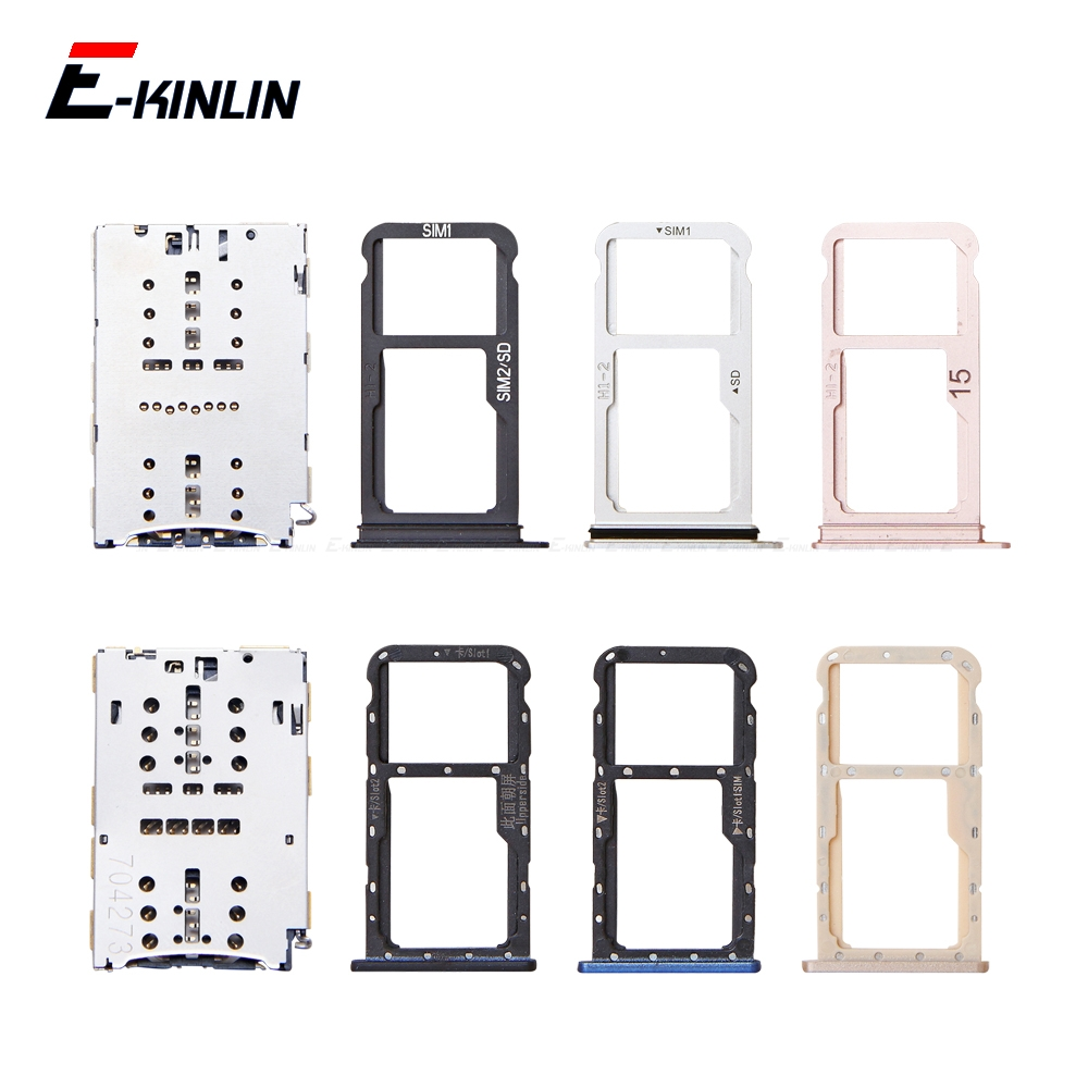 Sim Card / Micro SD Card Tray Socket Holder Slot Container Connector Adapter Reader Parts For HuaWei Mate 10 Pro Lite