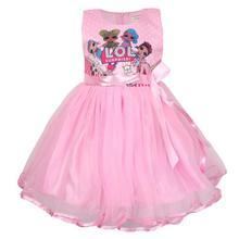 L.O.L. SURPRISE! Summer Girls Dress Birthday Party Bow Princess Dress Halloween Christmas Costume Children Toddler LOL Dress