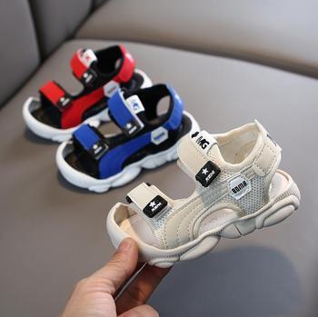 2020 nowe letnie buty dla dziewczynek chłopcy plażowe sandały dziecięce korkowe buty dziecięce skórzane sandały nowe modne obuwie dziecięce tanie i dobre opinie Miękka skóra Płaskie obcasy Hook loop Dobrze pasuje do rozmiaru wybierz swój normalny rozmiar 12 m 18 m 24 m 10 t