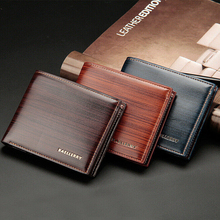 Casual Men's Wallets Leather Solid Luxury Wallet Men Pu Leather Slim Bifold Short Purses Credit Card Holder Business Male Purse цена в Москве и Питере