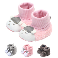 Winter Newborn Baby Shoes Cartoon Plush Non Slip Ba
