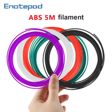 ENOTEPAD abs Refill Filament  1.75 mm 5meter per pack 3DPen Refills filament for 3D Pen Flexible for kids impresora 3d pencil