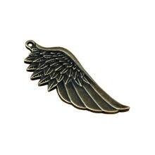 Подвески в виде крыльев Ангела 50 шт/лот 22x56 мм античный бронзовый