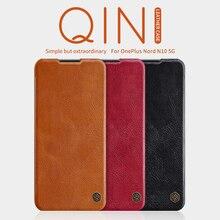 Do obudowy Oneplus 7T Pro Oneplus 8T Oneplus Nord Nillkin inteligentne obudzenie Qin skórzane etui z klapką do portfela OP 8 pro N10 5G N100