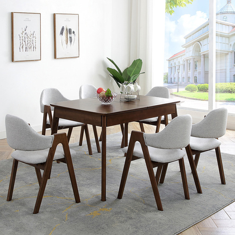 Nordic Solid Wood Dining Table Chair Combination Dining Table Set Modern Rectangular Retractable Folding Table 6 Person Dining Tables Aliexpress