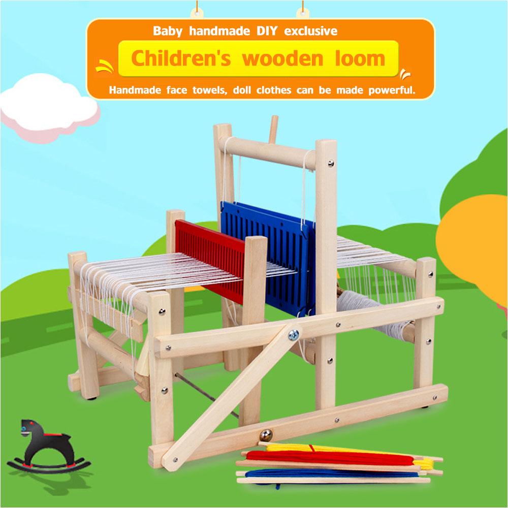 New High Simulation Children's Looms Toys Baby Handmade Diy Woven Toys Looms Kindergarten Teaching Aids Creative Gifts