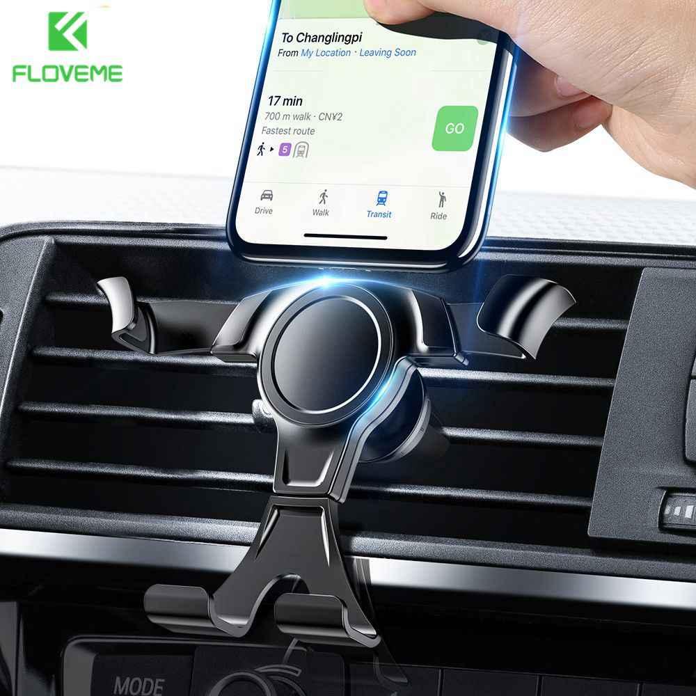FLOVEME הכבידה רכב טלפון מחזיק טלפון ברכב האוויר Vent הר מחזיק עבור iPhone סמסונג טלפון נייד Stand מחזיק smartphone