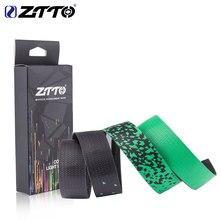 ZTTO-Cinta para manillar de bicicleta de carretera, color degradado colorido, dorado, verde azulado, EVA, PU, duradero, a prueba de golpes, BD3
