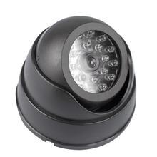 цена на Dummy Dome Fake Surveillance Security Camera CCTV Flashing Red LED Light Indoor