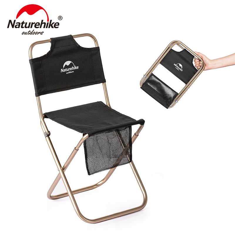 Naturehike Portable Ultralight Small Campstool Outdoor Camping Chair Folding Stool Fishing Beach Alluminum Alloy Chairnh18m001-z High Quality And Inexpensive