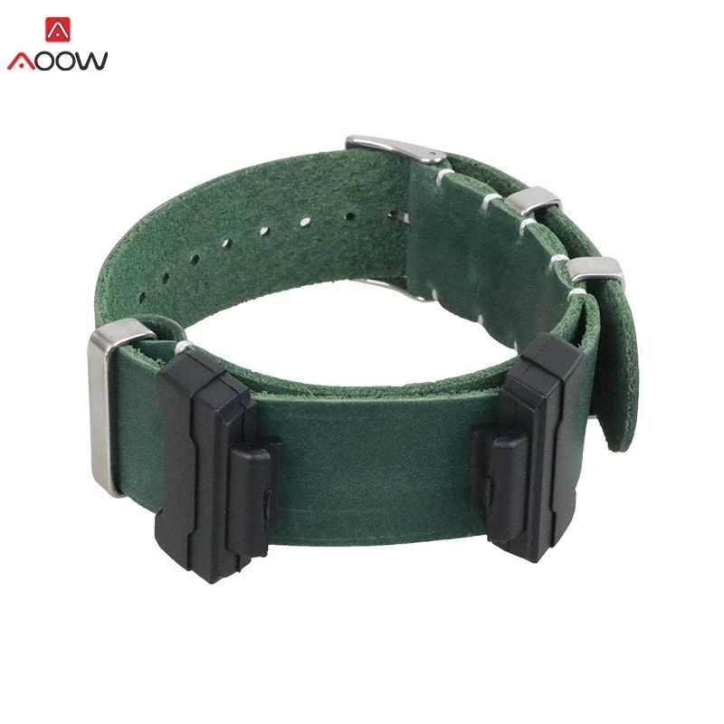 עור אמיתי ספורט שעון רצועת עבור Casio G-SHOCK GA110 100 GD120 100 GLS100 DW5600 חגורה עם מתאם לצפות אביזרים