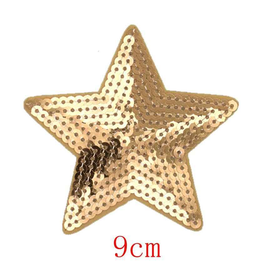 2Pc Glitter Rot Liebe Herz Stern Applique Kleidung Stickerei Patch Stoff Aufkleber Eisen Auf Patch Handwerk Nähen Reparatur Bestickt