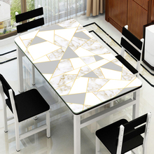 European style Imitation marble pattern tablecloth waterproof coffee table mat TV cabinet customize party cover