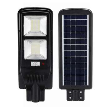 60W 144 LED Solar Street Lights LED Outdoor Wall Lamp Light Control+Radar Sensing+Timer Lamp Waterproof for Plaza Garden Yard