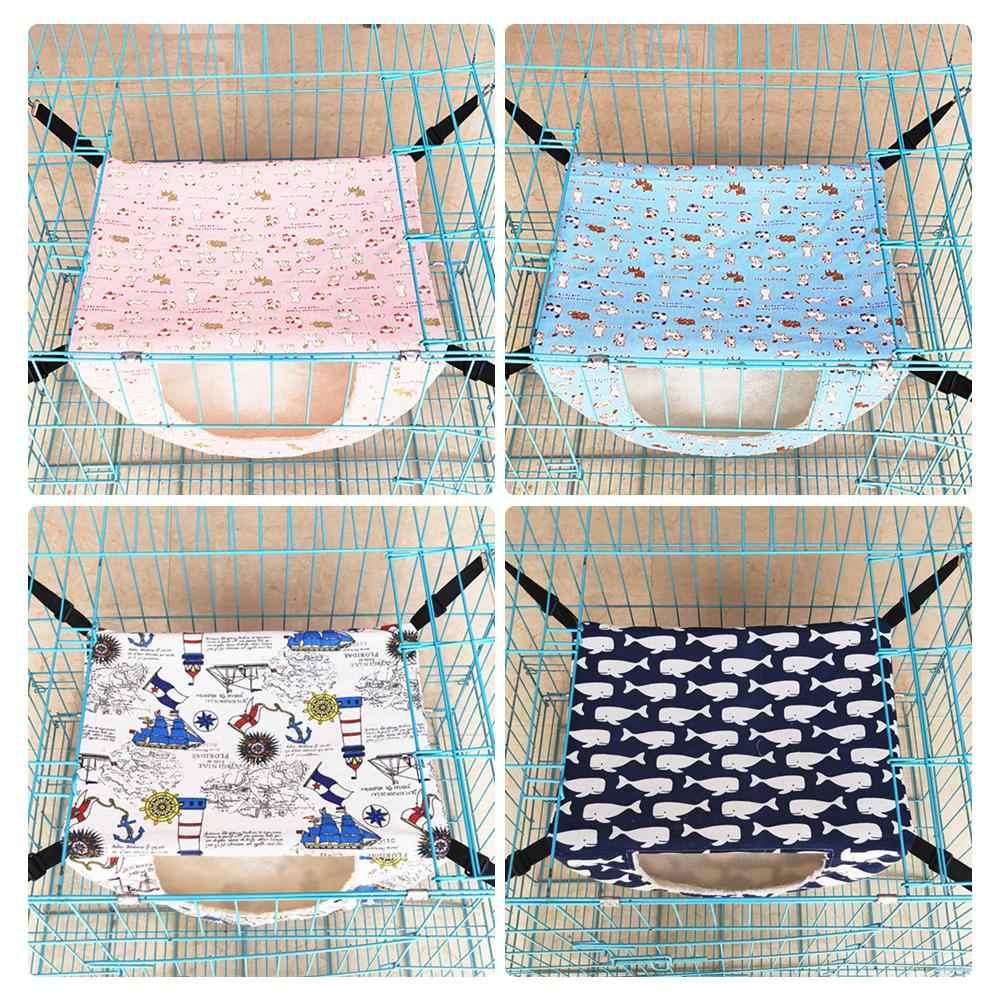 Ninho pequeno do animal de estimação dormir cama pequenos animais casa para furões cobaias esquilos hamster pendurado gaiola rede