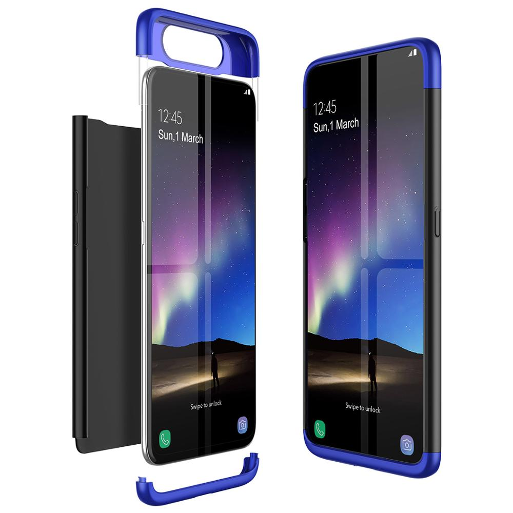3 In 1 360 Full Body Cover Luxury Hard PC Case For Samsung Galaxy A80 Case Anti-Drop Shockproof Cover For Samsung Galaxy A80