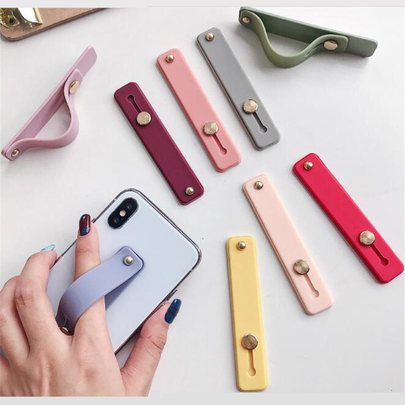 Wristband Finger Ring Grip Mobile Phone Holder Stand Push Pull Sticker Paste Universal Hand Band Car Phone Holder Bracket