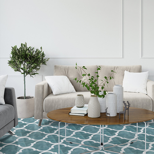 Домашний декор, марокканские напольные наклейки, керамическая плитка, водонепроницаемая, черная, синяя, нескользящая, виниловая пилка и пал...