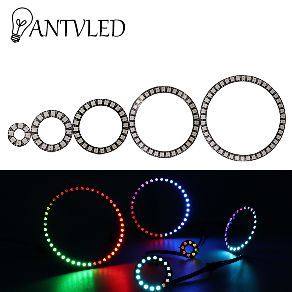 WS2812BLed Pixel Ring Adresse 8/16/24/35/45Leds DC5V 5050 RGB Led Diode Ring farbe IC gebaut-in LED