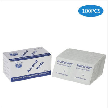 100 tablets / box of alcohol tablets 70% medical alcohols + plain weave non-woven disinfection wipes rubbing alcohol wipes