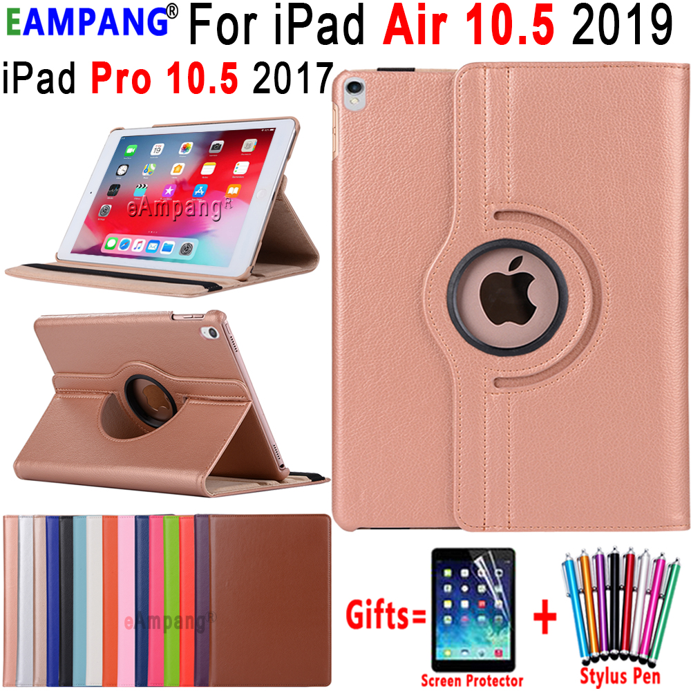 360 degrés couverture en cuir rotative intelligente sommeil éveillé étui pour Apple iPad Air 3 10.5 2019 iPad Pro 10.5 2017 Coque Funda