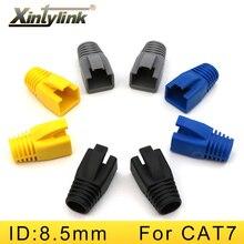 Xintylink rj45 Cappellini cat6a cat7 rg rj 45 cavo di rete ethernet connettori gatto 7 stivali spina guaina manicotto protettivo bush 100pcs
