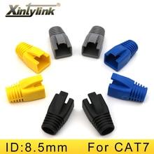 xintylink rj45 caps cat6a cat7 rg rj 45 network ethernet cable connectors cat 7 boots sheath plug protective sleeve bush 100pcs