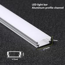 10 20 pces dhl 1m perfil de alumínio de tira conduzida para 5050 5730 led barra dura barra de luz led canal de alumínio habitação withcover fim capa