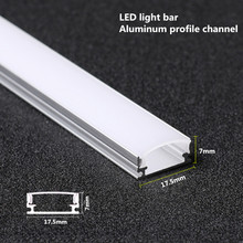 10 20PCS DHL 1M LED Stripโปรไฟล์อลูมิเนียมสำหรับ 5050 5730 LEDแสงLed Barช่องอลูมิเนียมที่อยู่อาศัยWithcover End Cover