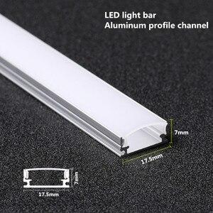 Image 1 - 10 20PCS DHL 1m LED רצועת אלומיניום פרופיל עבור 5050 5730 LED קשיח בר אור led בר אלומיניום ערוץ דיור withcover סוף כיסוי