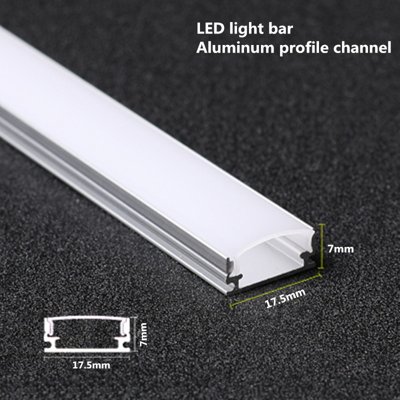 10-20PCS DHL 1m LED strip aluminum profile for 5050 5730 LED hard bar light led bar aluminum channel housing withcover end cover
