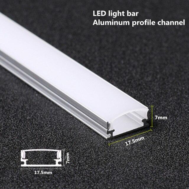 10 20PCS DHL 1m LED strip aluminum profile for 5050 5730 LED hard bar light led bar aluminum channel housing withcover end cover