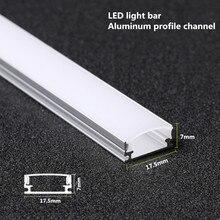 Tira de luces LED de aluminio perfil de aluminio para Barra de luz LED 5050 5730, barra de luz resistente, carcasa de canal de aluminio con cubierta final, 10 20 piezas, DHL, 1m