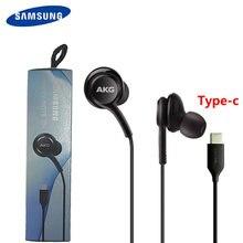 Fones de ouvido samsung eo ig955 tipo-c no ouvido com microfone fio fone de ouvido para galaxy akg samsung note10/note10 + huawei smartphone