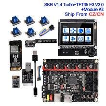 Bigtreetech btt skr v1.4 turbo placa de controle tmc2209 uart tft35 e3 v3.0 wifi módulo dcdc modo sd nuvem para ender 3 atualizar mks