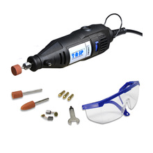 130w Electric Mini Drill Variable Speed Rotary Tool Dremel Style Engraving Drilling Polishing Machine With Accessories for Diyer