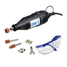 130w Elektrische Mini Drill Variable Speed Dreh Werkzeug Dremel Stil Gravur Bohren Polieren Maschine Mit Zubehör für Diyer