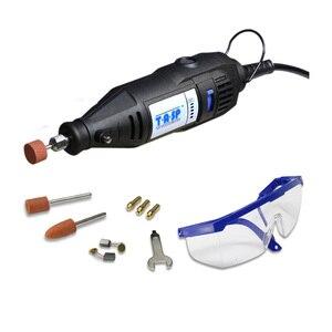 Image 1 - 130w elétrica mini broca de velocidade variável ferramenta rotativa dremel estilo gravura máquina de polimento perfuração com acessórios para diyer