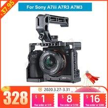 UURig C A73 klatka operatorska dla Sony A7III standardowa płyta szybkiego uwalniania w stylu Arca z górnym uchwyt rękojeści dla Sony a7iii A7R3 A7M3
