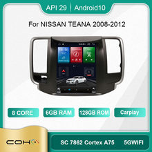 COHO For Nissan Teana J32 2008 - 2014 For Tesla style screen Car Radio Multimedia Video Player Navigation GPS Android 10 6+128GB