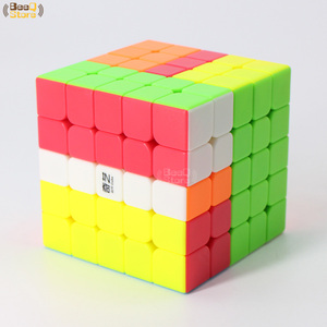 Image 5 - Qiyi 2x2 3x3 4x4 5x5 المكعب السحري QiyuanS QizhengS سرعة أُحجية مكعبات WarriorW تشى دى الأسود Stickerless 3 قطعة 4 قطعة/المجموعة لعبة تعليمية