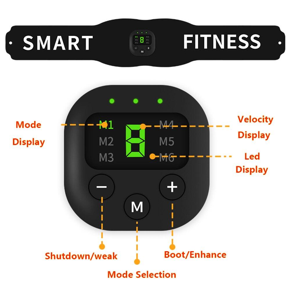 Electronic Abdominal Muscle Stimulator Smart Fitness Ab Belt