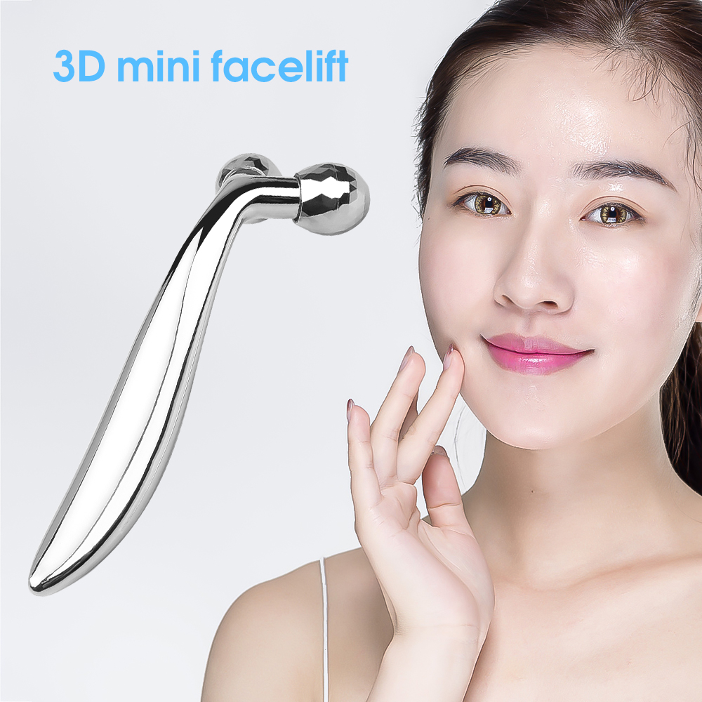 3D Roller Massager Facial Massage Handheld Y Shape Wrinkle Remover Face-lift Roller Full Body Relaxation 360 Rotate Instrument
